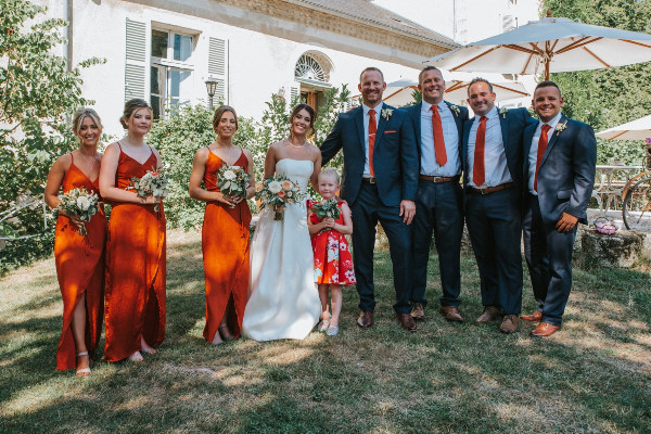bridemaids & bestmen at Le Castelet